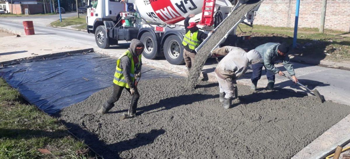 Siguen en ejecución las obras de bacheo en Garín y Maquinista Savio