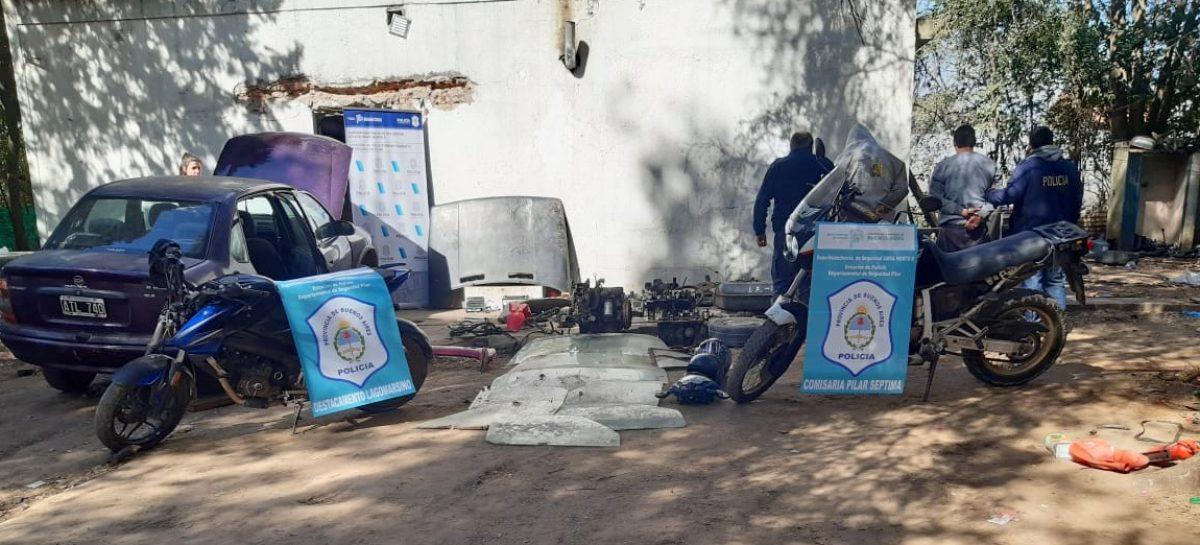Garín: desbaratan un desarmadero y detienen a tres personas que lo regenteaban