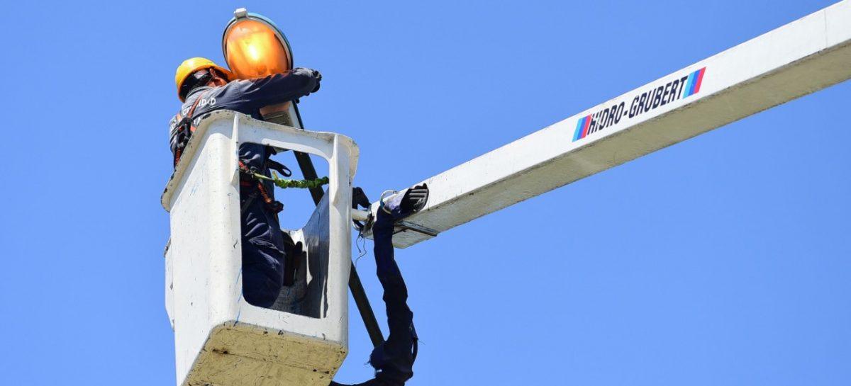 Alumbrado público: en el último mes, la Municipalidad de Escobar reparó 681 luminarias
