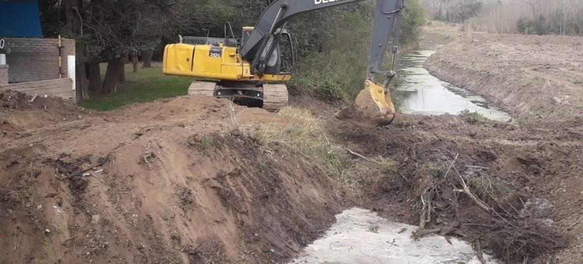 Continúan los trabajos hidráulicos del municipio en distintos puntos del partido
