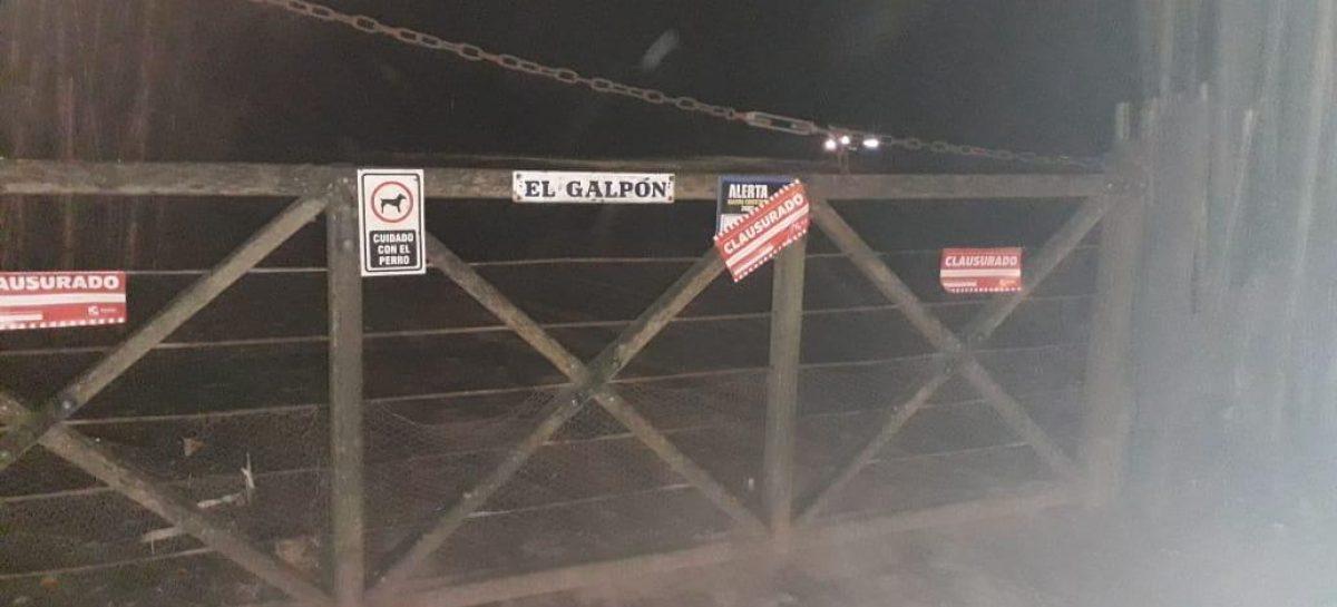 La Municipalidad de Escobar clausuró una fiesta clandestina en el barrio El Cazador de Belén