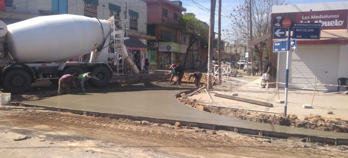 El municipio comenzó con la repavimentación del Boulevard 5 de Junio de Maquinista Savio