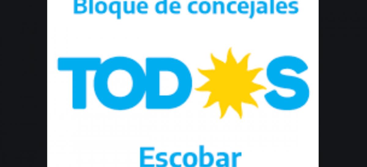 """Comunicado del Bloque de Concejales del Frente de Todos Escobar: """"Cambiemos Escobar politiza y avala el amedrentamiento de la bonaerense"""""""