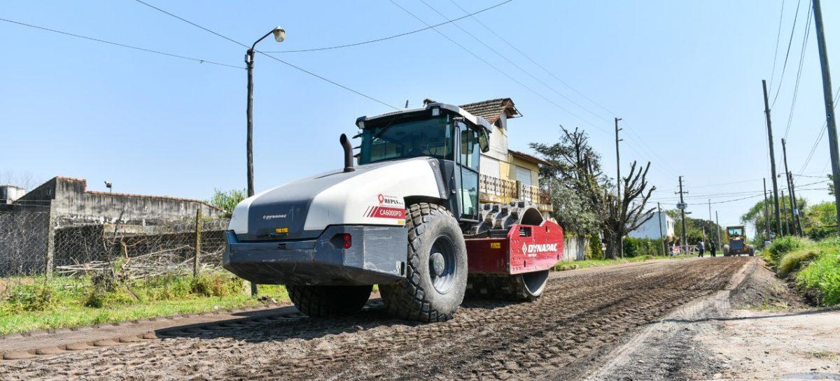 Continúa la obra de repavimentación de la calle Mermoz en Belén de Escobar