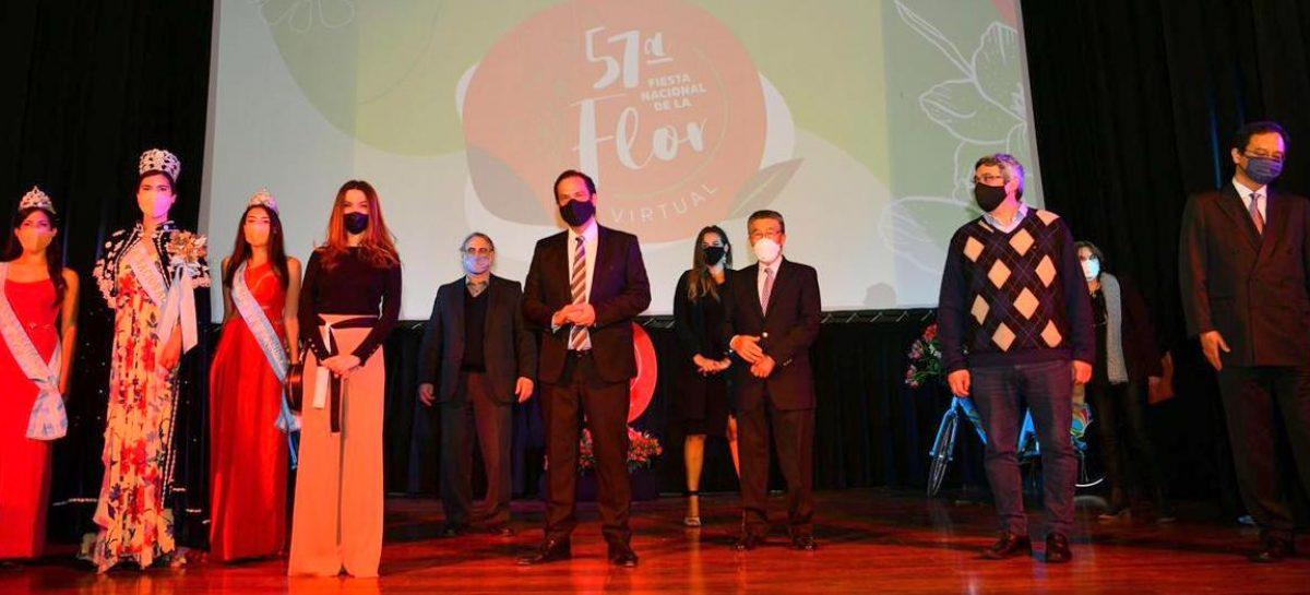 Quedó inaugurada la 57ª edición de la Fiesta Nacional de la Flor que este año se desarrollará de manera virtual