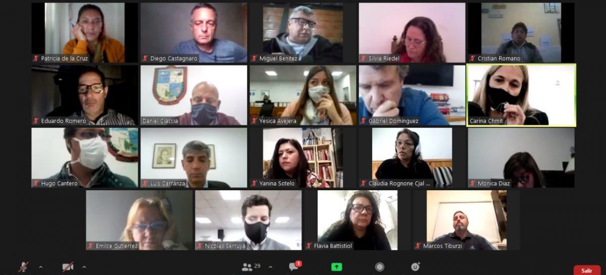 El Concejo Deliberante realizó reuniones en forma virtual y sesionará en el Teatro Seminari