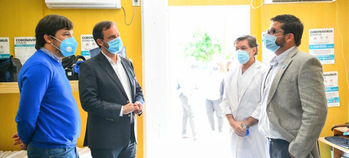 Sujarchuk y el viceministro Kreplak mantuvieron una reunión de trabajo y recorrieron el Hospital Provincial Erill