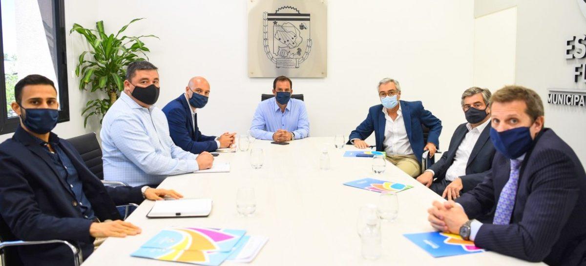 El intendente se reunió autoridades de Edenor para analizar proyectos relacionados con energía renovable