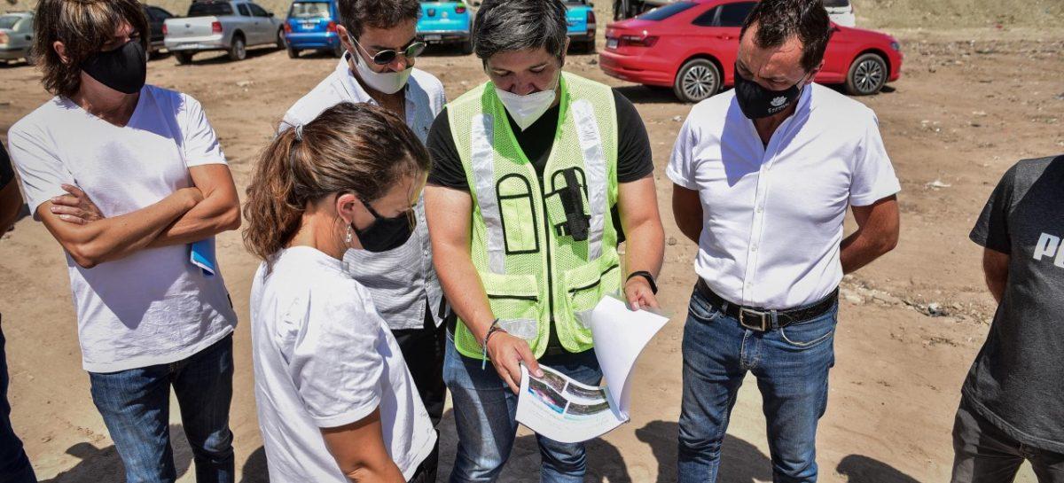 Verónica Sabena recorrió las obras del Polo Ambiental en Maquinista Savio y las futuras oficinas administrativas en Ingeniero Maschwitz