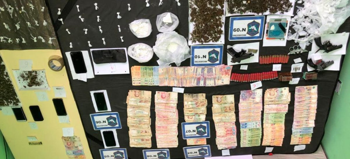 "Cayó ""la banda de Junko"" en Escobar: detienen a sus seis integrantes e incautan cocaína y marihuana"