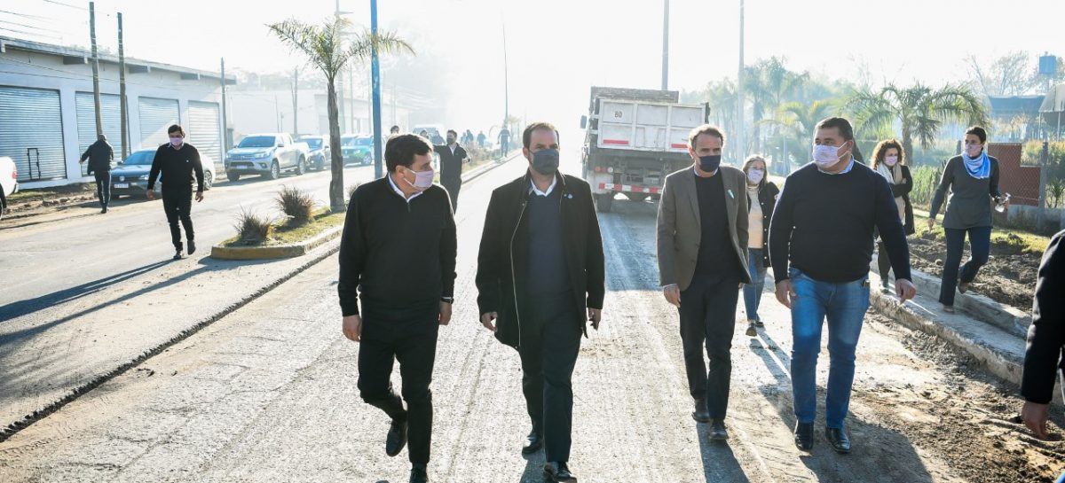 Sujarchuk, Katopodis, Arroyo y Simone recorrieron obras trascendentales para mejorar la infraestructura vial y sanitaria del partido de Escobar