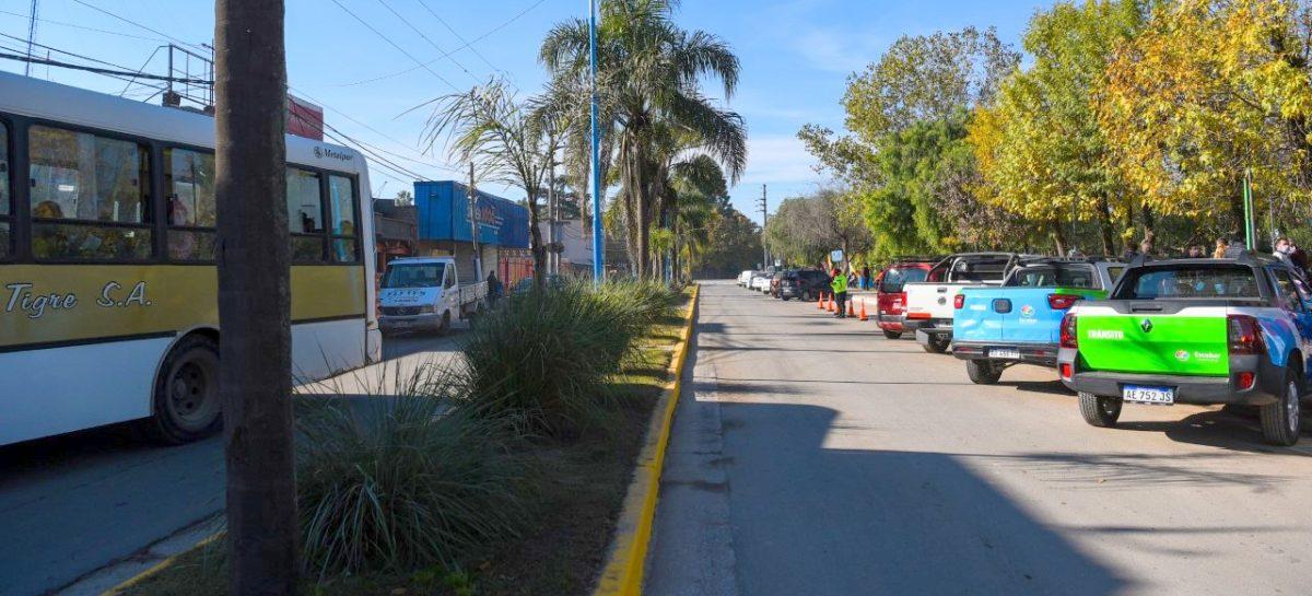 Avanzan las obras de repavimentación y de reconstrucción de veredas en la localidad de Maquinista Savio