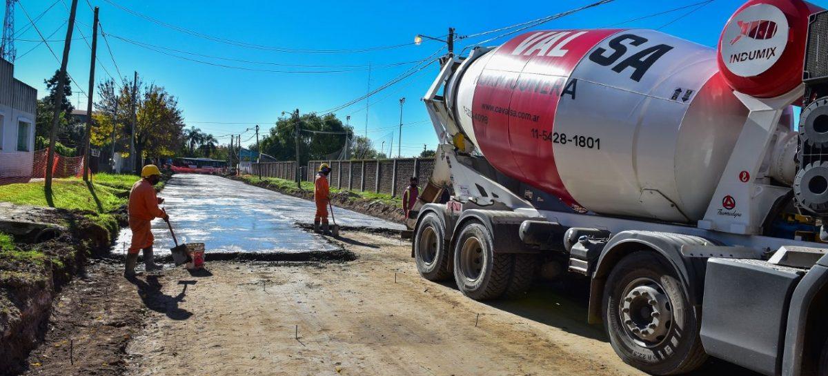 Siguen adelante las obras de pavimentación, estabilizado y mejoramiento del espacio público