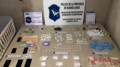 Desbaratan un búnker de droga en Garín: tres detenidos y más de 400 gramos de cocaína incautados