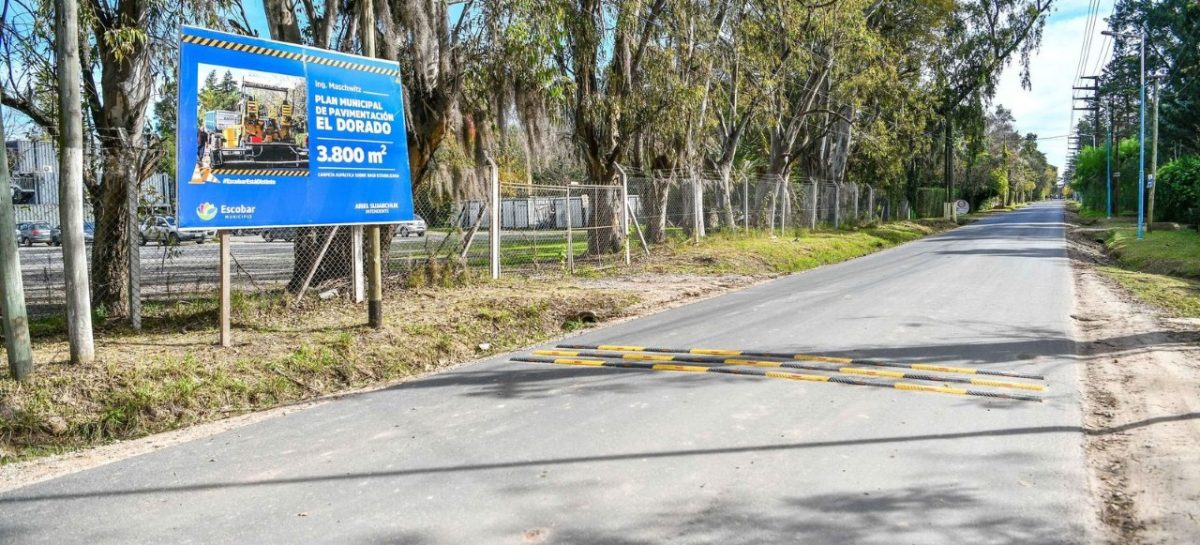 Finalizó la obra de pavimentación de la calle El Dorado de Ing. Maschwitz