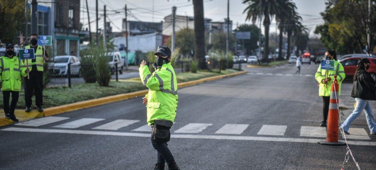 Seguridad Vial: se realizó una jornada de concientización en distintos puntos del distrito