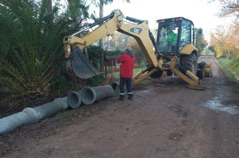 Continúan los trabajos de bacheo, estabilizado y mantenimiento del espacio público en todo el distrito
