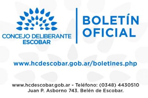 El Concejo Deliberante de Escobar lanzó el Boletín Oficial Digital