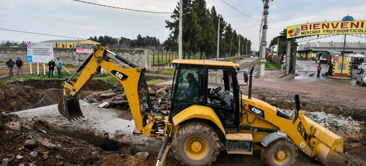 Beto Ramil supervisó la obra de repavimentación de la Avenida De los Inmigrantes