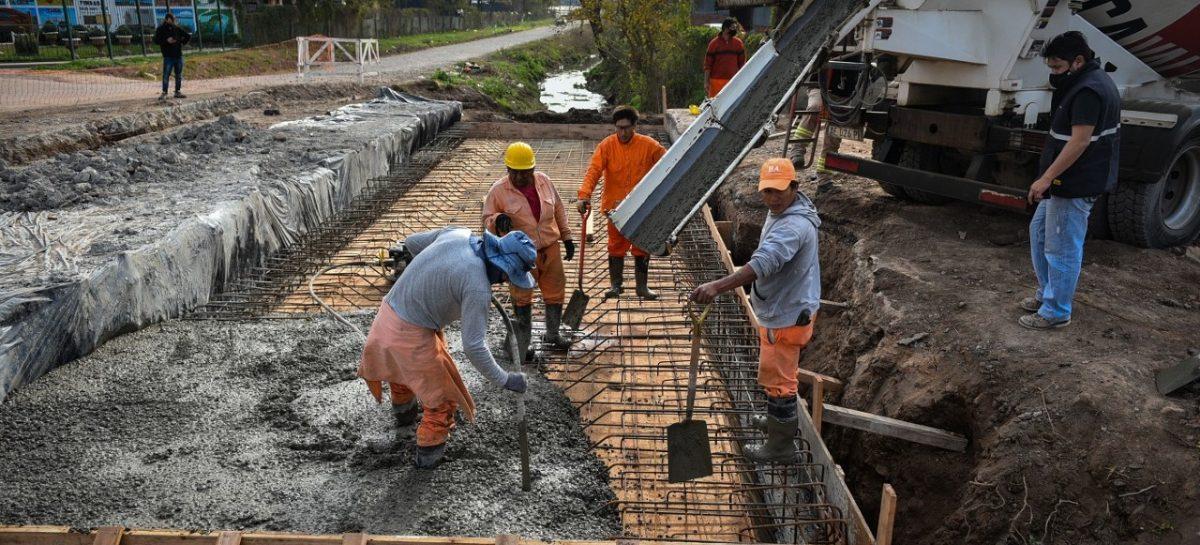 Continúan llevándose a cabo obras de infraestructura urbana en las seis localidades del distrito