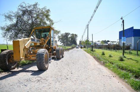 Comenzó la obra de asfalto de la calle Caballito Blanco, otra vía alternativa para ir de Matheu a Escobar