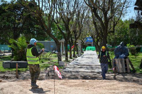 Continúa la puesta en valor de la Plaza Belgrano de Garín